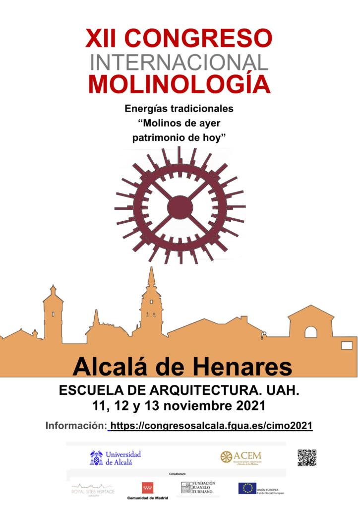 cartel congreso molinologia acem alcala henares